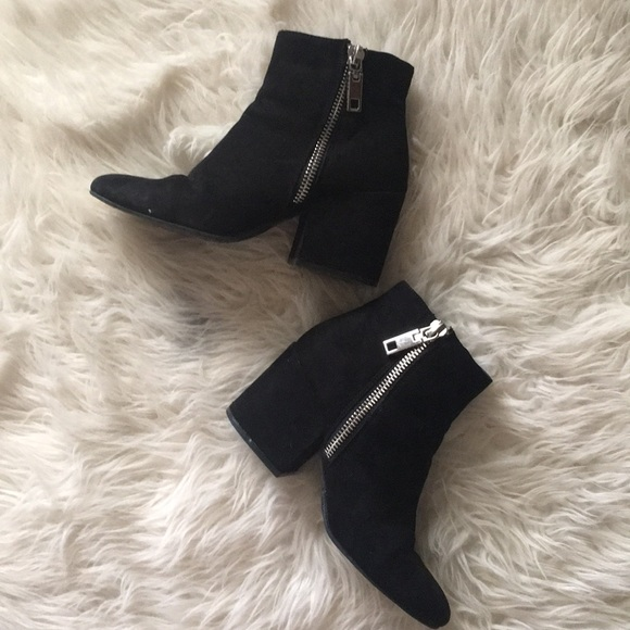 DV by Dolce Vita Shoes - Black Heeled Booties